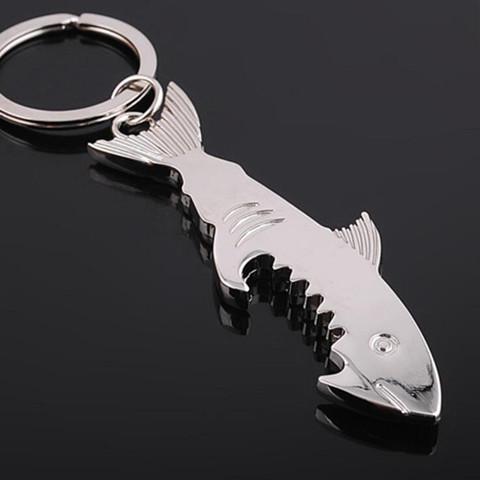 Shark décapsuleur Rétro Métal Keychain Porte-clés Bière Décapsuleur Portable Creative cuisine Ouvre Creative cadeau barware LXL1155Q-1