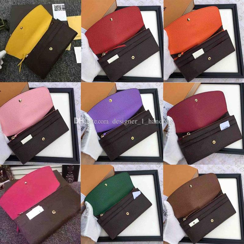 2019Alphabet senhoras longo carteira multicolor clássico da moda titular do cartão bolsa da moeda feminino caixa original bolsa com zíper clássico