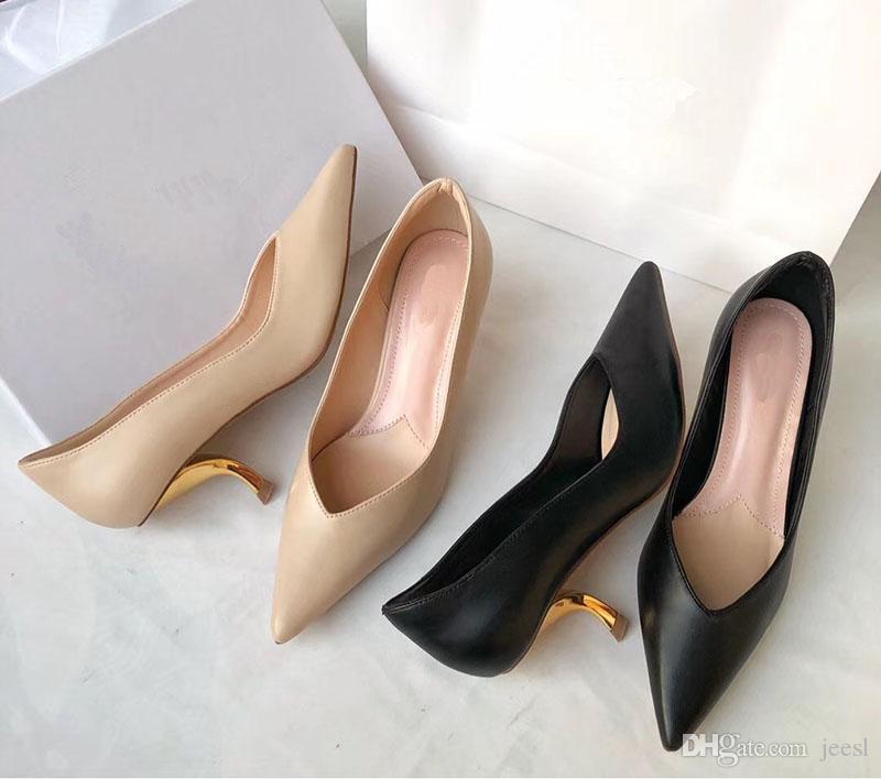 ponta fina com bombas de moda sexy Jantar Dress Shoes um casamento amigo partido Shoes livre porte caixa size35-41