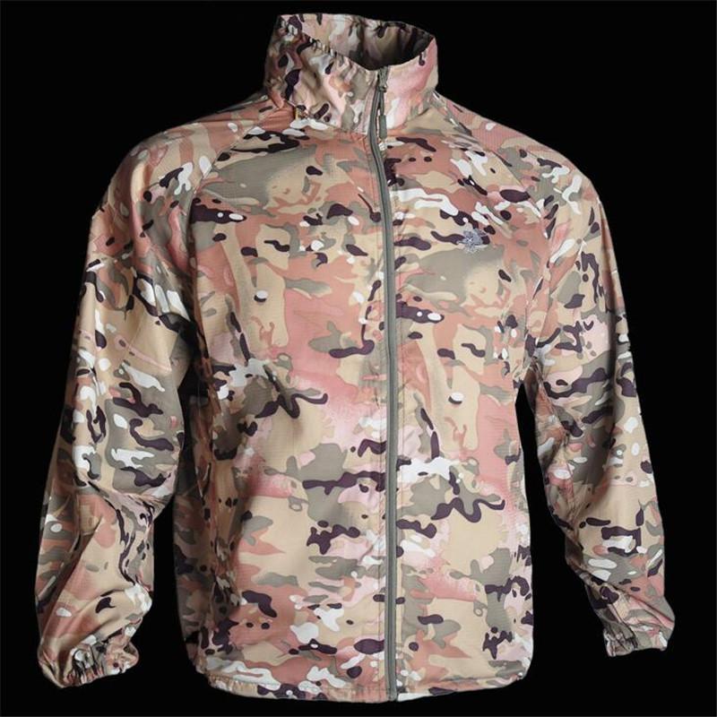 جندي الصيف الولايات المتحدة نماذج الشاطئ ملابس الوقاية من الشمس التخييم التمويه في الهواء الطلق حماية الجلد CP الصحراء سترة رقيقة