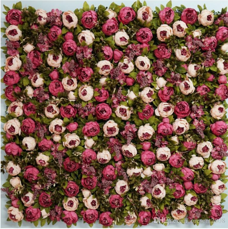 10pcs Artificial Flower Wall Panel Wedding Home Shop Window Decoration