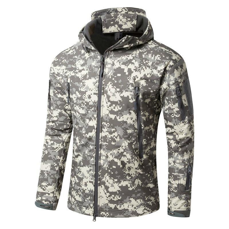 Mens Waterproof Breathable Softshell Jacket Men Outdoors Sports Coats Women Ski Hiking Windproof Winter Camouflage Military Outwear Jacket