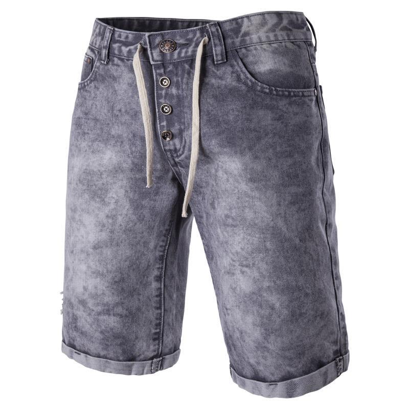 01Mens Denim Shorts 2017 Eté Nouveau Longueur du genou Casual court Bermuda Masculina eau Jeans Shorts Washed pour les hommes Slim Jeans homme M-2XL