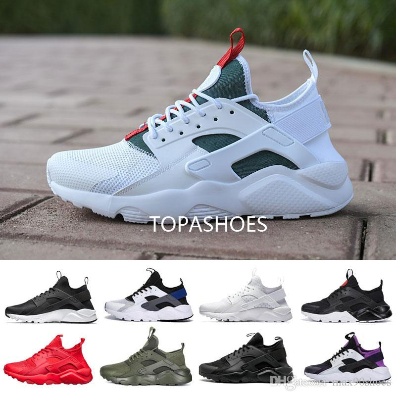 wholesale Huarache 4.0 men women 4 Running Shoes Classic Triple White Black red grey Huaraches Outdoor Runner sport Trainers Sneakers 36-45