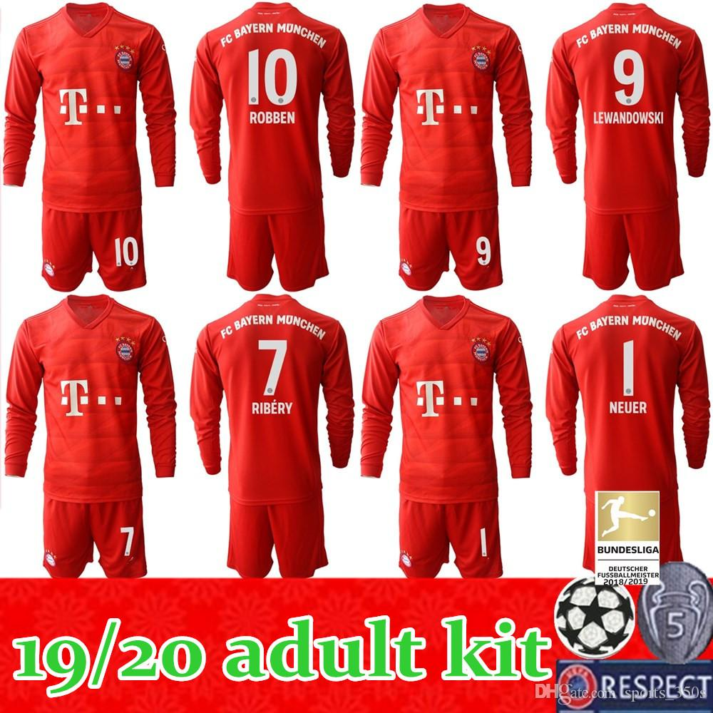 2020 2019 2020 Fc Bayern Munich Soccer Jerseys Men 19 20 Home Long Sleeves Coutinho Lewandowski Muller 2019 2020 Adult Kit Football Uniforms From Sports 350s 20 73 Dhgate Com