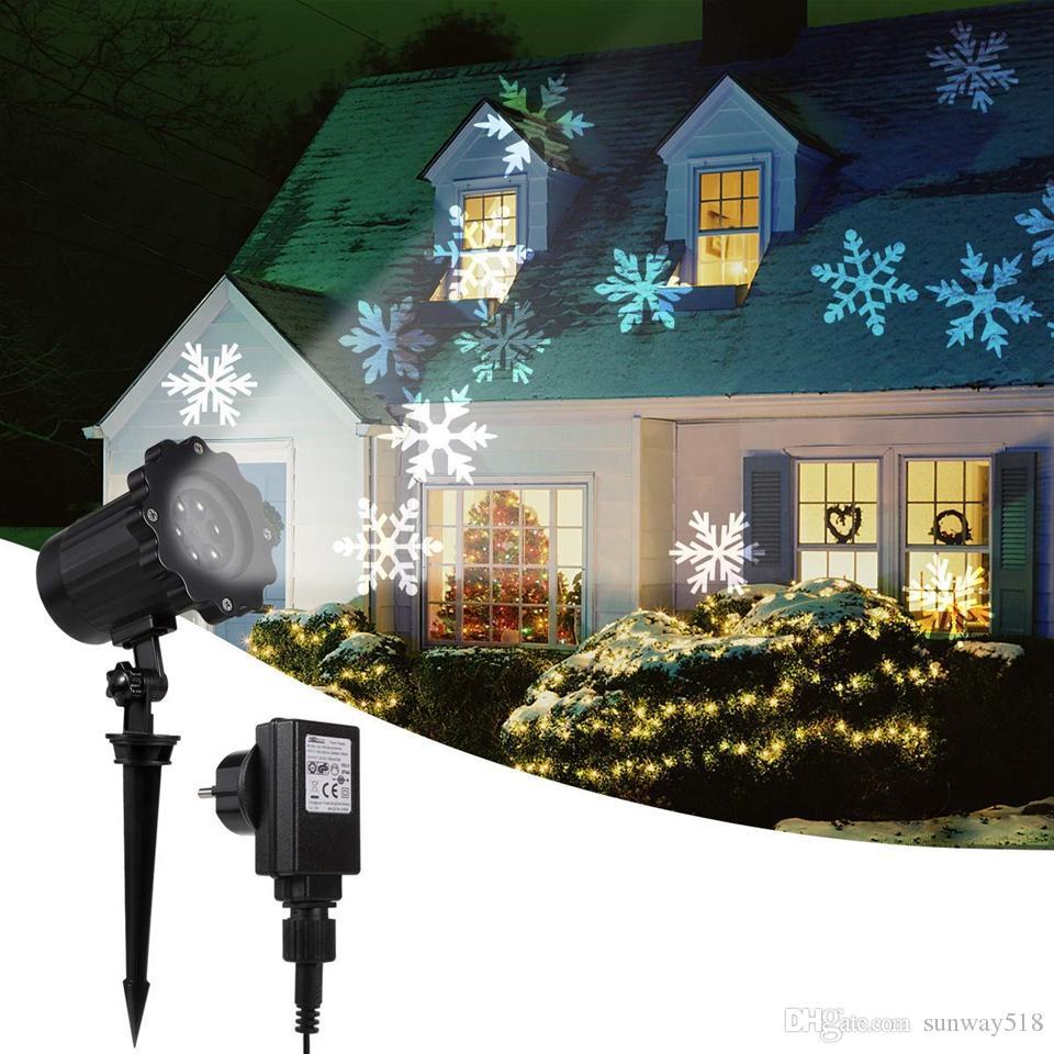 Magic Xmas 12 Images Lamp Project Spots Light Christmas Laser Landscape Lawn