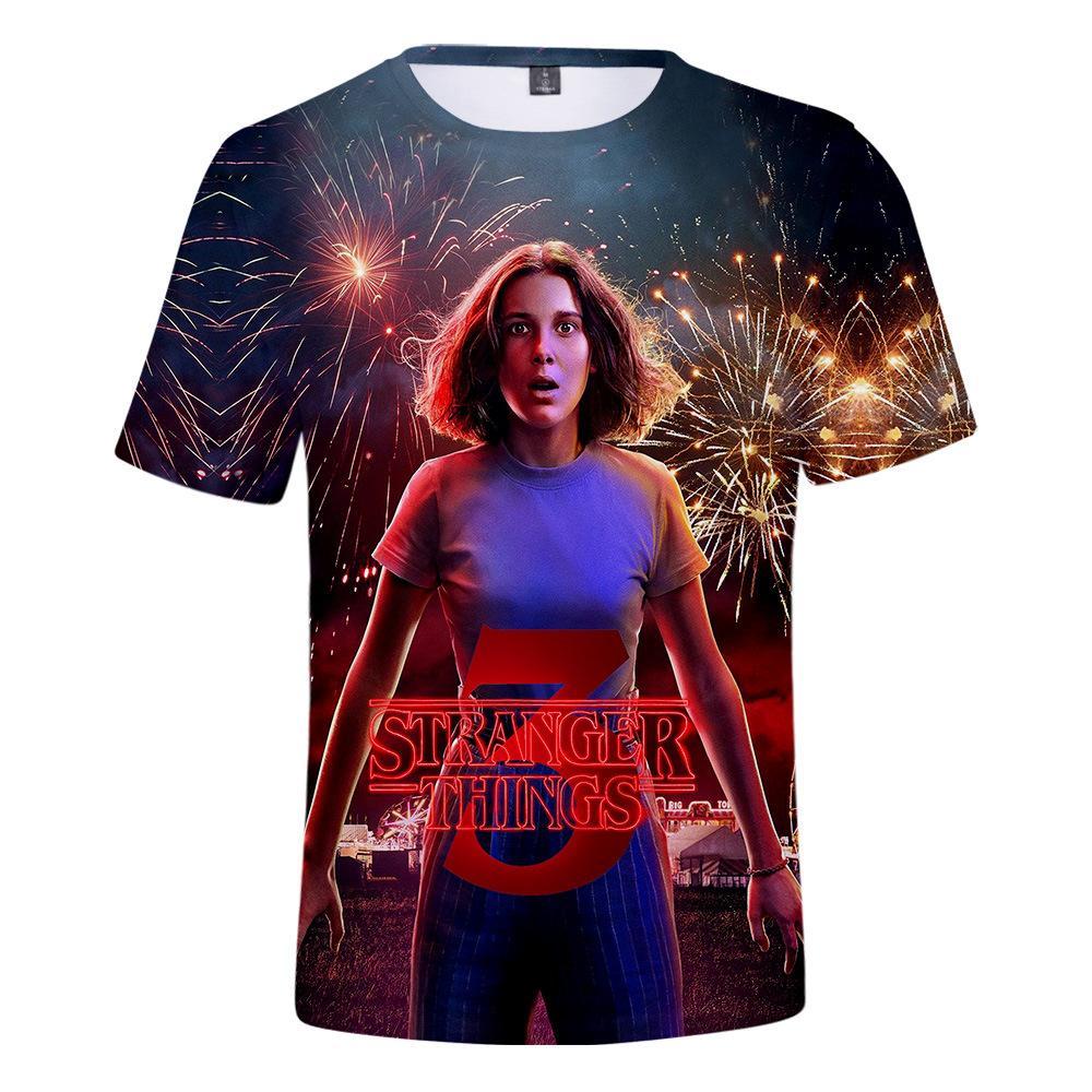 2019 usine directe transfrontalière impression numérique 3D occasionnels à manches courtes mens designer T-shirt T-shirts