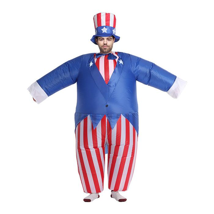 Día de la Independencia de América inflable Ropa para hombre de Navidad de Halloween para mujer ropa casual de diseño trajes de la mascota