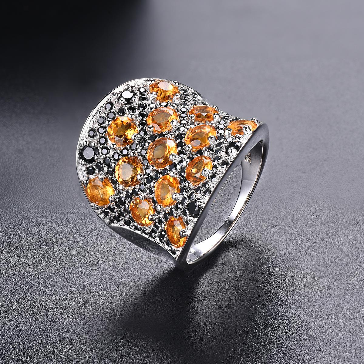 2020 Wholesale Wedding Ring For Women Gemstone Citrine Spinel