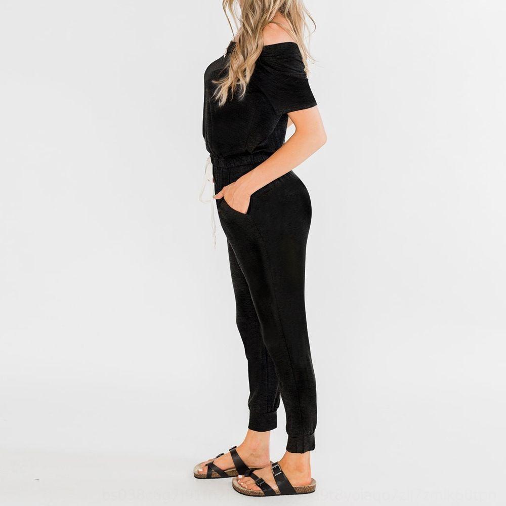 nEVYb Shiying Normallack Kurz sleeveshoulder Overall der Frauen 2020 Kleidung Sporthose des Sommers beiläufige einfache Sporthosen der Frauen clothin