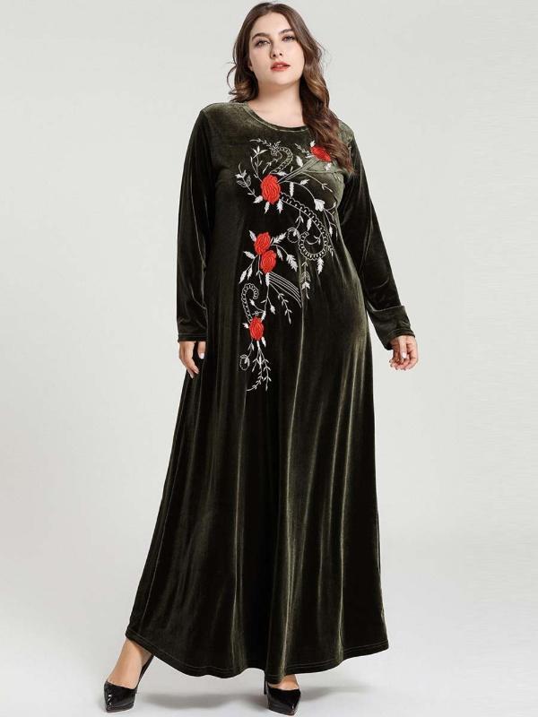 Modest Moda a lungo signore Abaya abito musulmano Vestido per il Ramadan