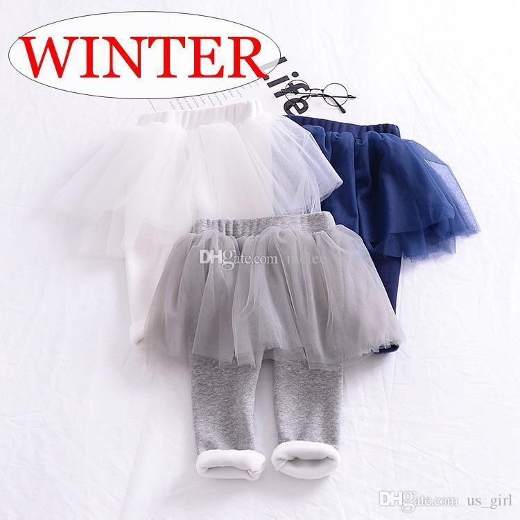 INS XMAS Gift Pantaloni invernali in velluto a coste Pantaloni tutu leggings pantaloni pp 3 colori scelgono pantaloni volant bambino