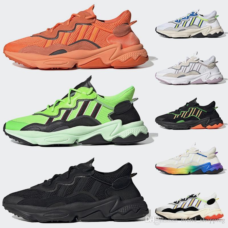 3M Reflective Ozweego des chaussures Pride Xeno Women Men Running shoes Neon Green Solar Yellow Halloween Tones Core Black Trainers Sneakers