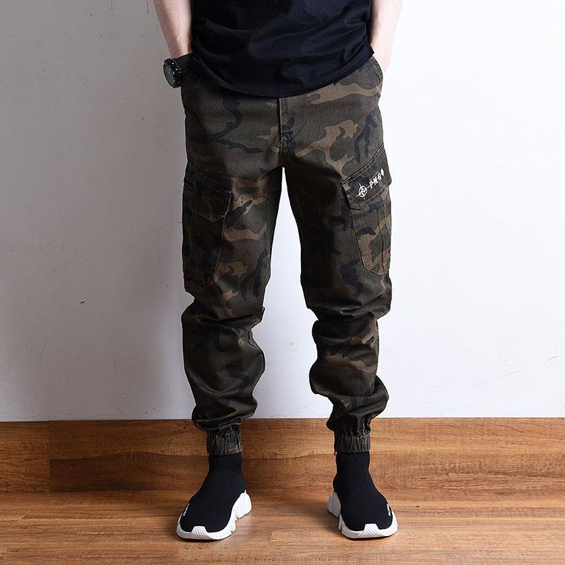 Fashion Street Männer Jeans Loose Fit Camouflage Haremshose große Tasche Cargo Pants Homme Hip Hop Jogger Pants Men