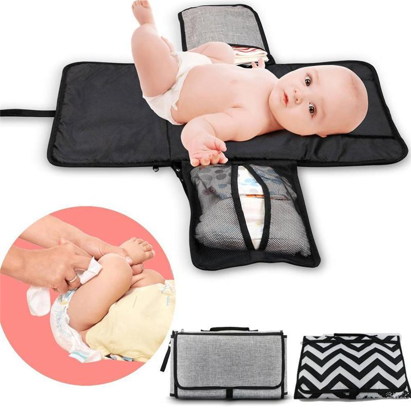 Newborn Folding Waterproof Baby Diaper Changing Mat Portable Pocket Changing Pad