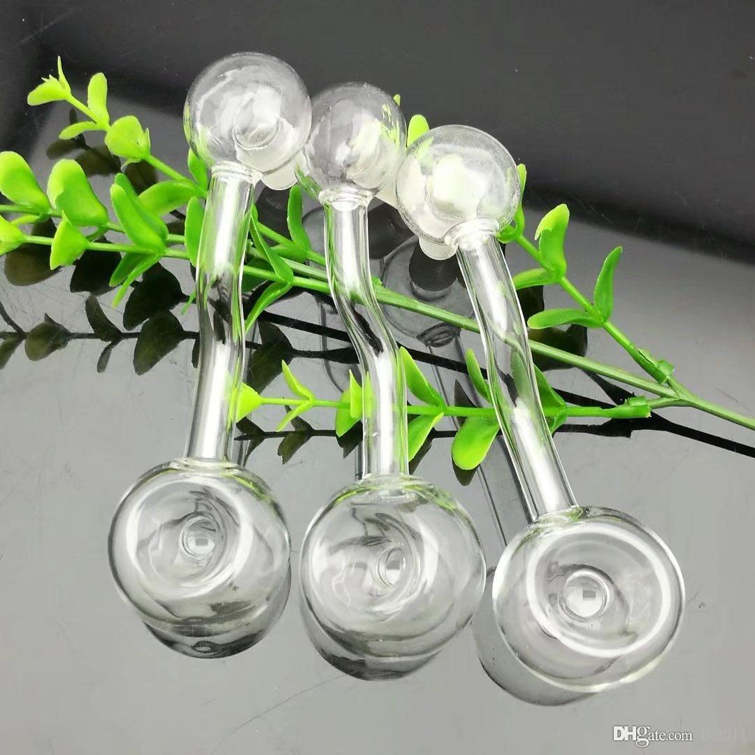 Transparente fóvea vidro bongs de vidro grosso Oil Burner Pipes tubulações de água Cachimbo de vidro plataformas petrolíferas fumadores frete grátis