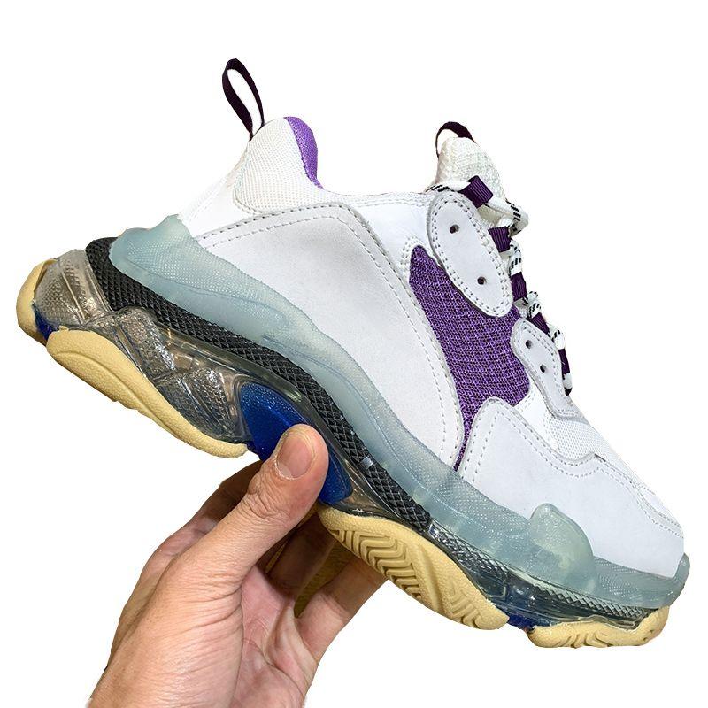 Alta Qualidade Mulheres designer de moda de luxo calça as sapatilhas das mulheres tênis de basquete Triple S Sneakers Outdoor Tennis Shoes Tamanho 35-40 Type1