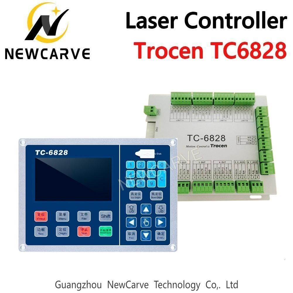Controlador de láser vibrante cuchillo de Control del Sistema TC-6828 4.3inch Apoyo Una cabeza de trabajo de archivos USB NEWCARVE de entrada de entrada de archivos Web