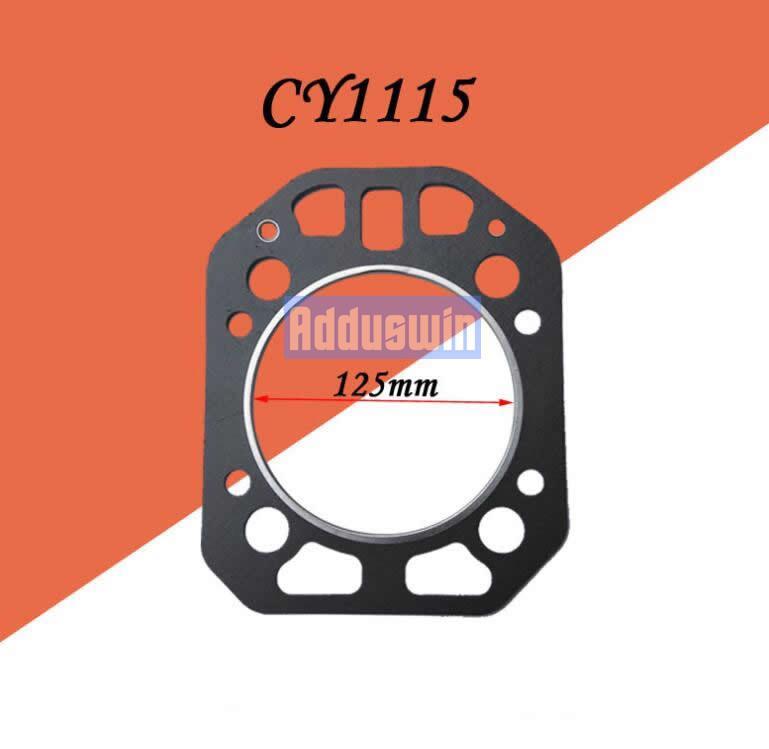 -Arrefecido a água de cilindro único motor diesel Yan-mar CY1115 Yan-mar CY1105 cabeça do cilindro T0302 cama junta cilindro