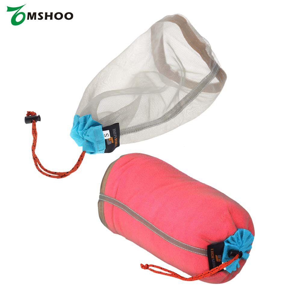 Ultralight Mesh Stuff Sack Drawstring Bag for Outdoor Hiking Travel Camping