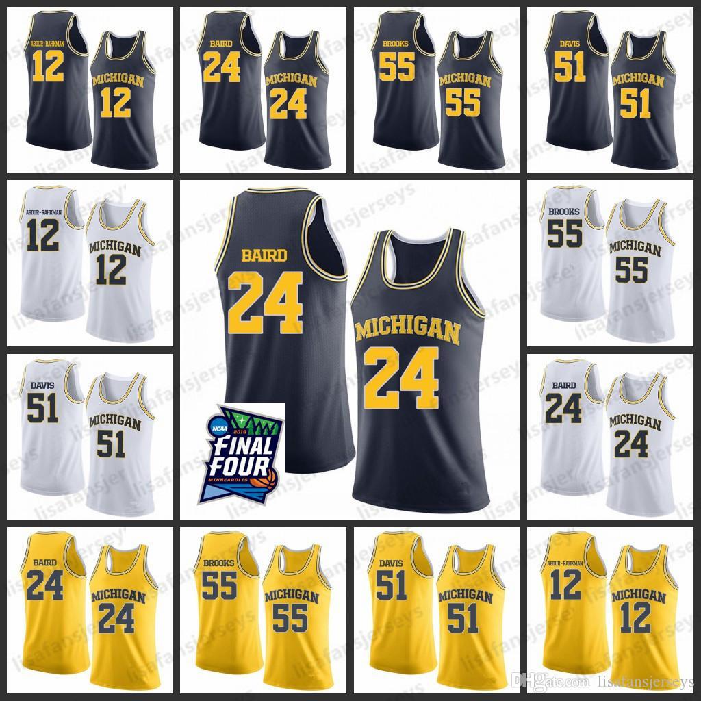 Michigan State Basketball Jersey 2019 Final Four Mens 12 Abdur-Rahkman 24 Baird 55 Brooks 51 Davis College michigan State basketball jersey