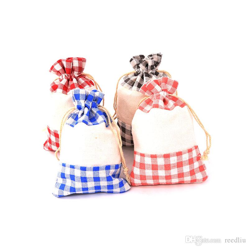 50pcs manta de algodão saco multicolor Tecido Bolsas massa Gift Bag Jóias Acessórios Cosméticos Saco do presente para o partido Casamento Casa Storage10 * 14 centímetros