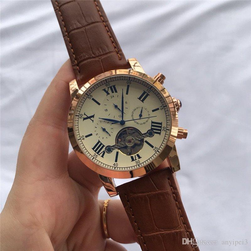 marca orologi svizzeri di pelle di alta qualità degli uomini automatici di orologi di lusso orologi meccanici ATMOS Designer Clock regali orologio di Lusso