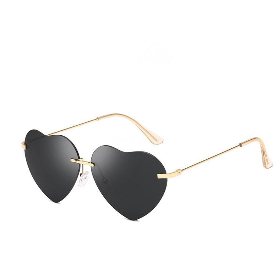 20 1pcs plage couleur Sunglass Lunettes à lentilles Femmes clair en forme de coeur Sunglasee hommes transparent en forme de coeur # 57108 Sunglasee