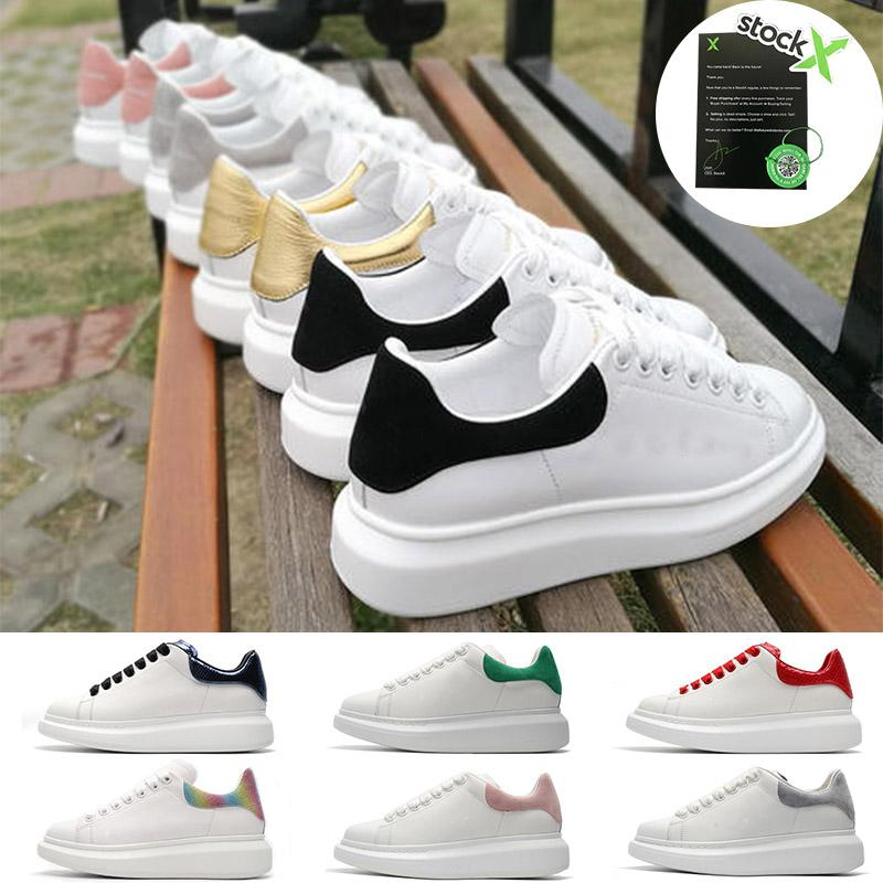 2020 Classic Shoe Designer di moda di lusso del cuoio Donne Scarpe Uomo Lace Up Platform Sole Sneakers Bianco Nero camoscio rosso Scarpe casual Maxs 44