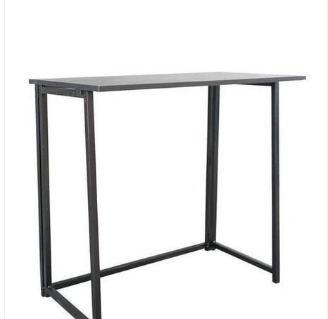 ventas al por mayor envío gratuito simple plegable del escritorio del ordenador Negro