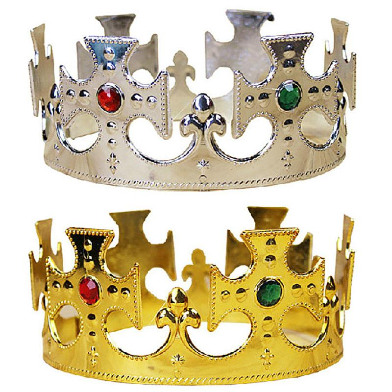 2 PSC HayStarWay Royal Crown tiaras Bridal Wedding Birthday Hair jewelry For women girl Party head ornament gift King Queen Kids