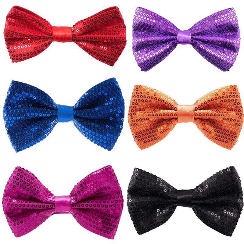 Männer Frauen BowTie Mode-glänzendes Pailletten-Bowtie für Hochzeit für Herren-Geschenk Bowties Jungen Mädchen Cravats Bowknot Zubehör