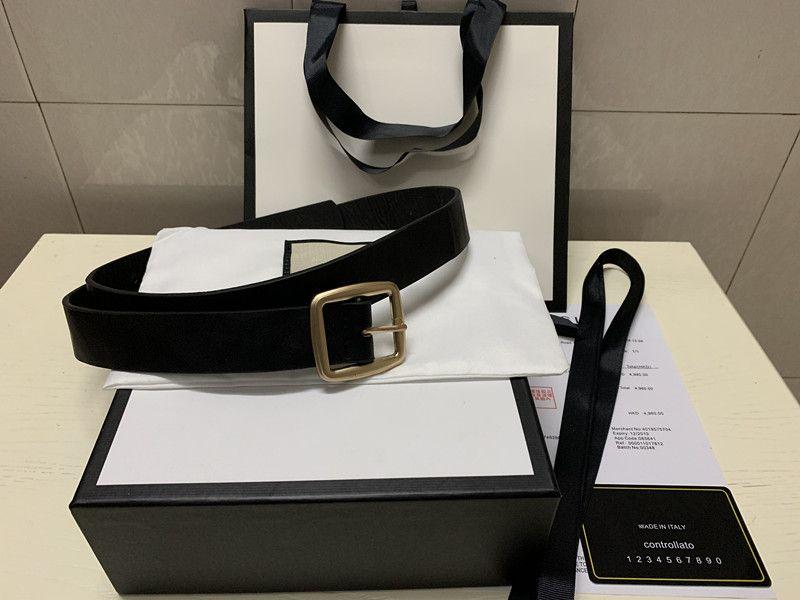 2019 Cinture Cinture uomo disegno della cinghia di Snake cinghia di cuoio reale Cinture Business Women oro fibbia grande