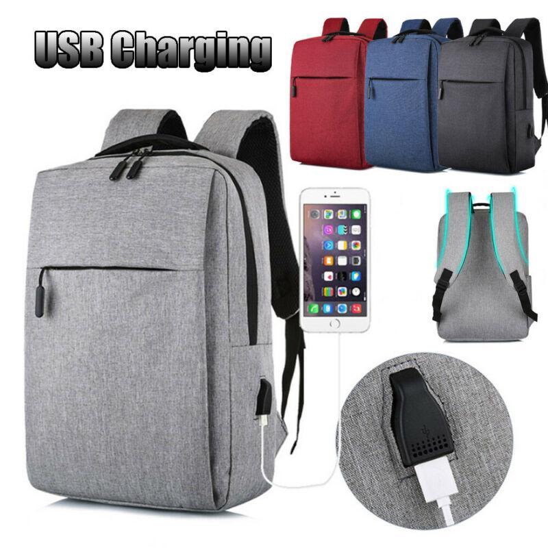 Men's Backpack Anti-theft Men USB Charger Port Backpack Business Travel Work Shoulder Bags Laptop Bag Large Capacity Work Bad
