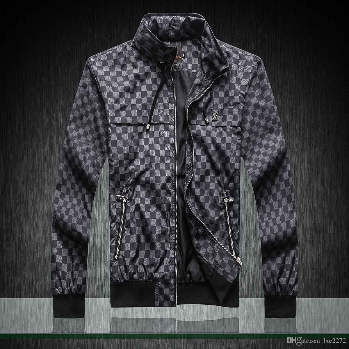 2019ss моды высокого качества для мужских спортивного последней цветочного узора письма Застежки-молния мужской Medusa случайной куртки куртки мужской молния M-3XL