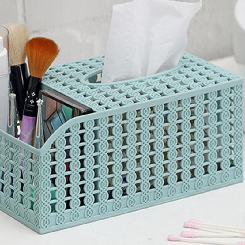 Tissue Box Container Towel Napkin Tissue Holder Paper Dispenser Fashion Hollow Tissue Holder Case For Office Home Decoration Kitchen Storage