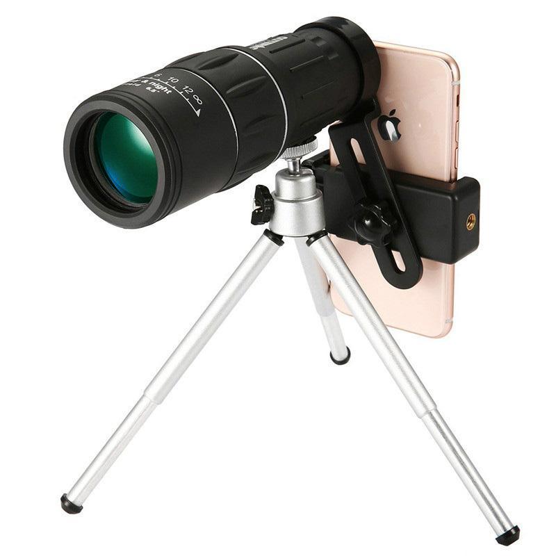 16X52 Monoculars Telescope Camera Phone Clip Clip ad alta definizione HD Low Light Night Vision Bambini Guarda occhiali all'aperto