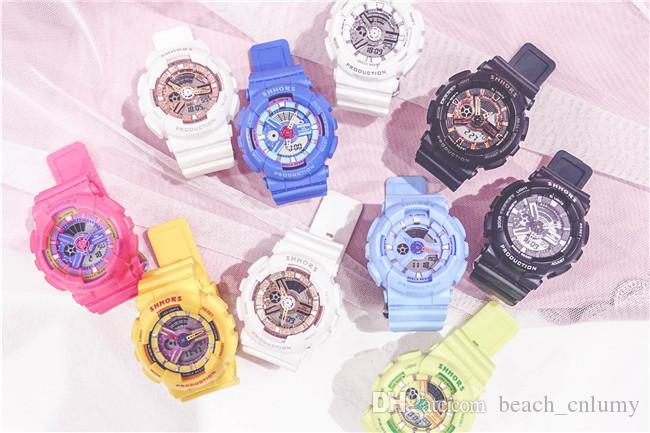 2020 Men Women Fashion Watches Waterproof Electronic Sports Plastic Band Watches Quartz Casual WristWatches Couple Watch Wrist Watch Clock