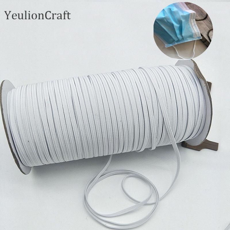 YeulionCraft 3x0.5mm élastique Masque bande Masque de corde en caoutchouc bande Ruban oreille Hanging Corde ronde élastique bricolage Crafts1