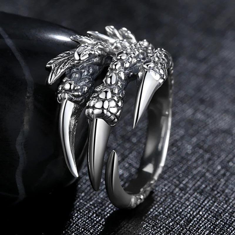2019 Personalized Punk Rock Rings Stainless Steel Biker Rings