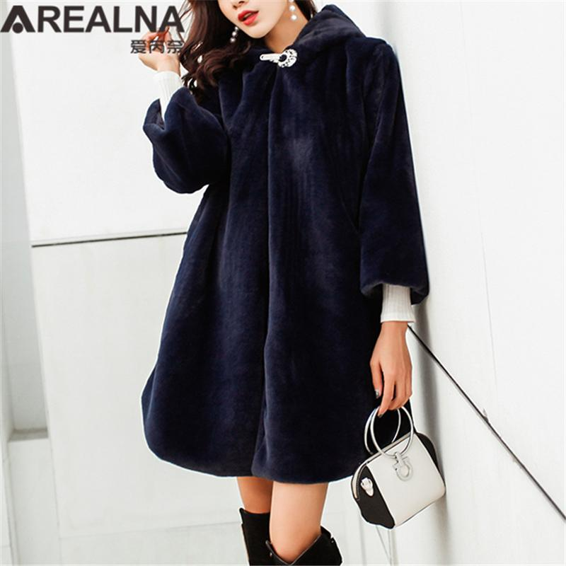 stable quality various colors best prices 2019 Pink Black Winter Faux Fur Teddy Coat Women Harajuku Streetwear Mid  Long Outerwear Hooded Warm Woman Coats Woman Manteau Femme From Avive,  $77.99 ...