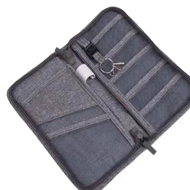 Passaporte Storage Bag Função Travel Bag portátil Passport Holder Clip Documento de armazenamento ID Cash Card