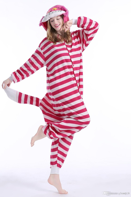 Shake-down Winter Pyjama Anzug Pyjama Cheshire Cat näht Erwachsenen Tier Pyjama Overall Comic-Con Reality-Show neutral zu Hause tragen