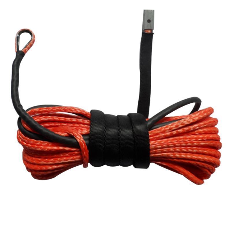15m Câble professionnel synthétique crochet Résistance à la flexion avec gaine chaîne treuil de remorquage corde Ligne d'entretien Lavage de voitures Durable