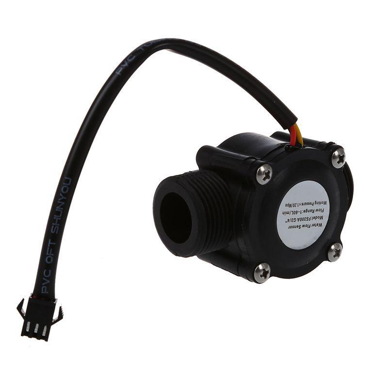 1-60L/Min DC 5-24V Hall Effect Water Flow Sensor Counter Meter FS300A