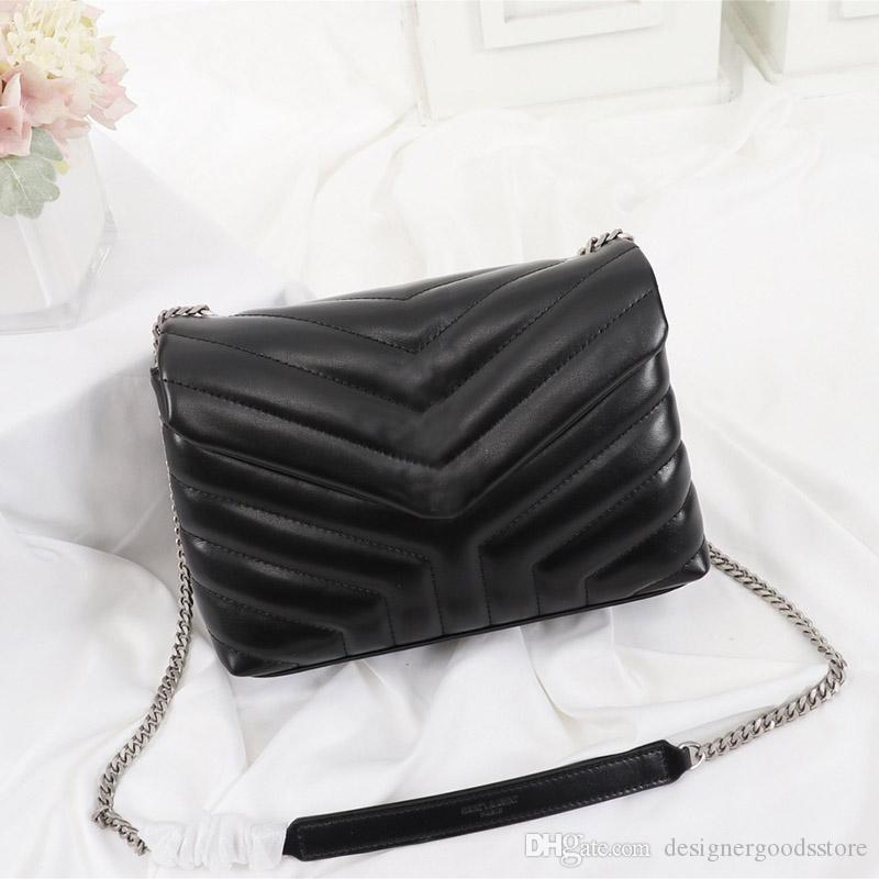 Дизайнерские сумки роскошь сумки Лулы Y-образного QUILTED реальной кожи цепи сумки женщины мешков плеча высокого качество щиток мешок