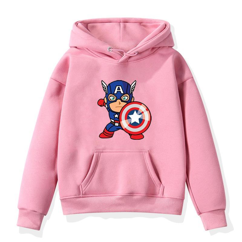 Süper kahraman Çocuk Bebek Erkekler Kızlar Hoodie Sonbahar Kış Giyim Gençler Giyim Kapüşonlular Bebek Boy Kız Tişörtü Hoodie Pamuk