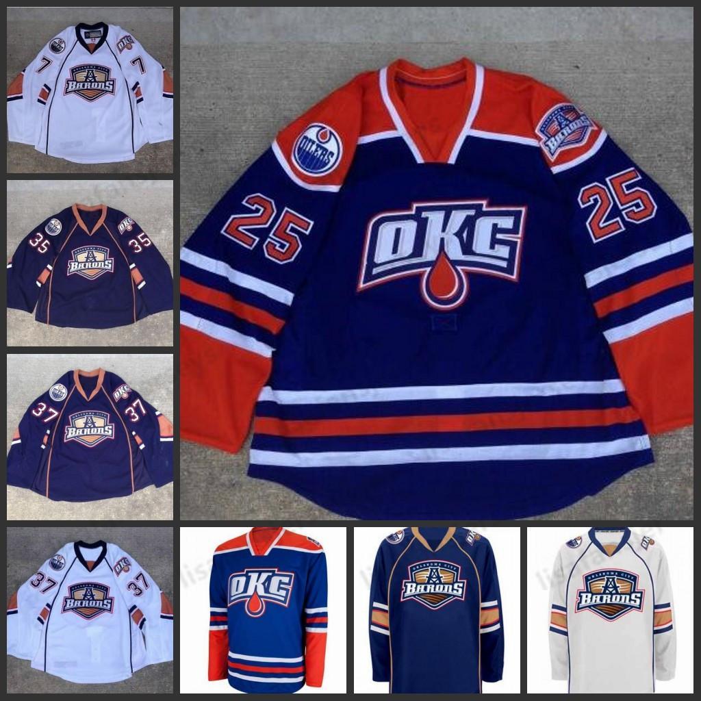 Настройка AHL Оклахом бароны 35 Хартикайнен 37 Денис Гребешки 25 Erick Lizon Премьер Аутентичный Хоккей Джерси