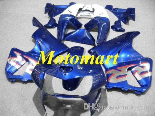 Kit de Carenagem da motocicleta para HONDA CBR900RR 919 98 99 CBR 900RR 1998 1999 ABS Branco azul Carimbos + presentes HC02