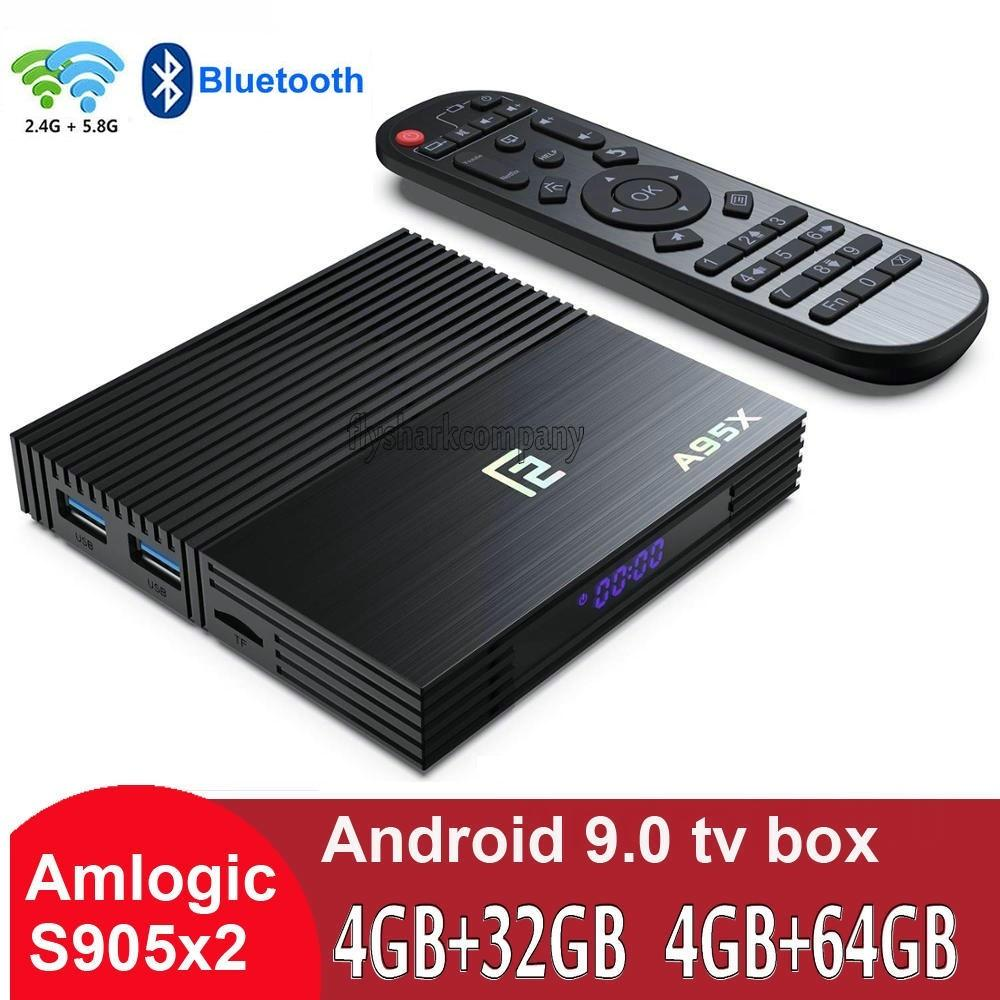 A95X F2 Amlogic S905X2 Android 9.0 TV Box 4GB+32GB/64GB Support Dual Wifi 2.4G+5G caja de tv android PK H96 TX3